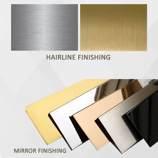 Plat Warna stainless steel