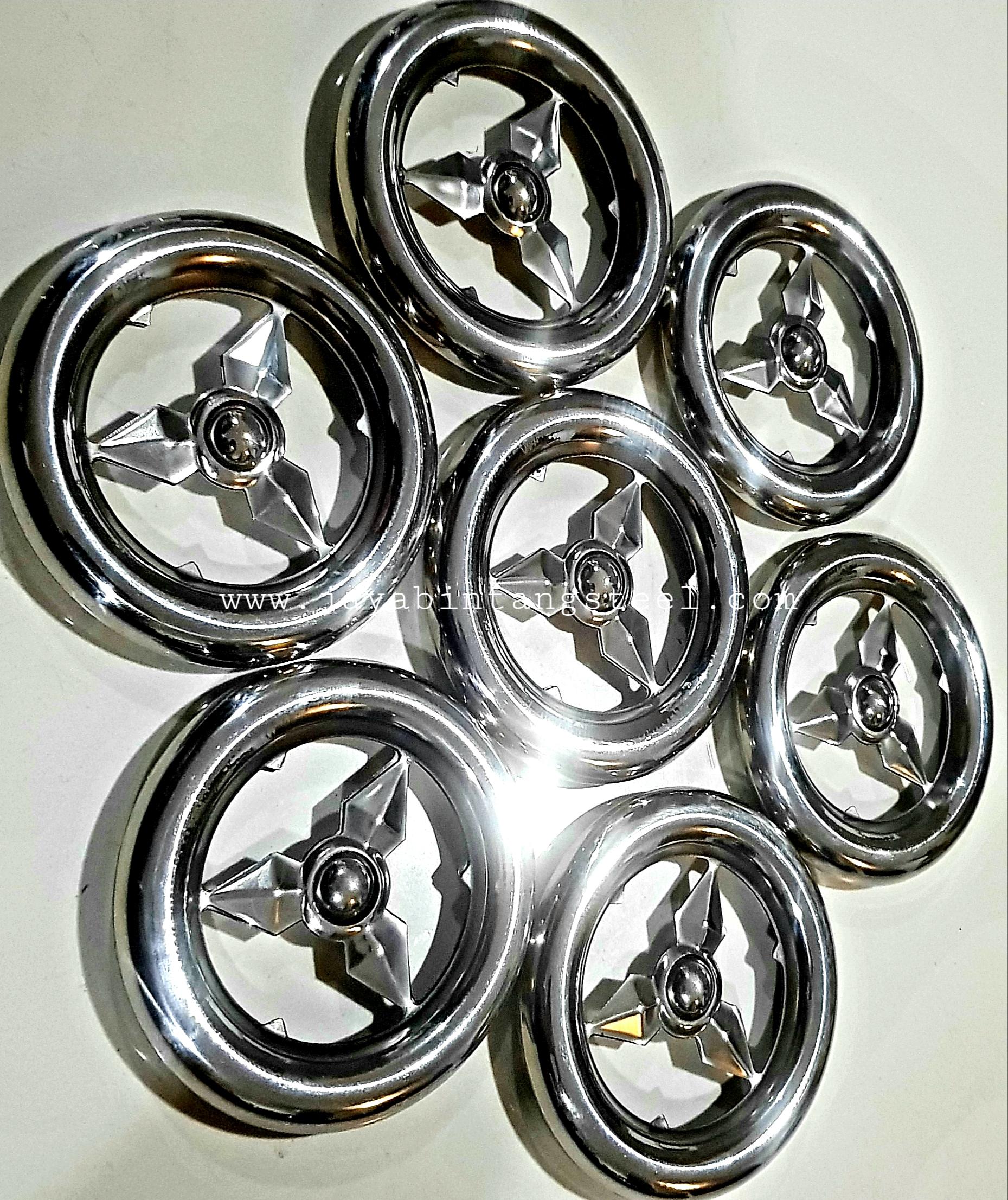 Aksesoris stainless Gelang Benz 10cm