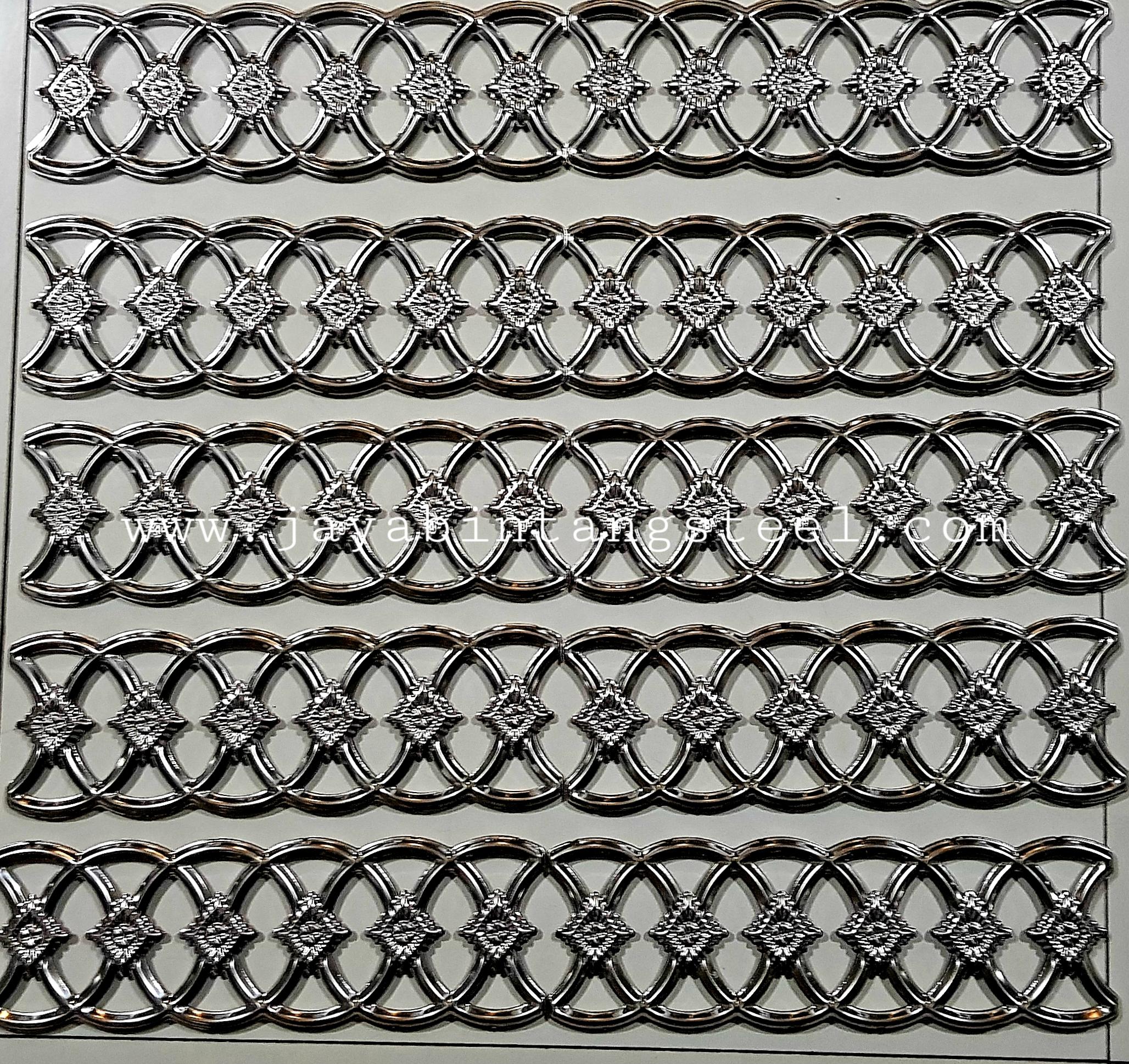 Aksesoris stainless Bunga sambung  10cmx30cm