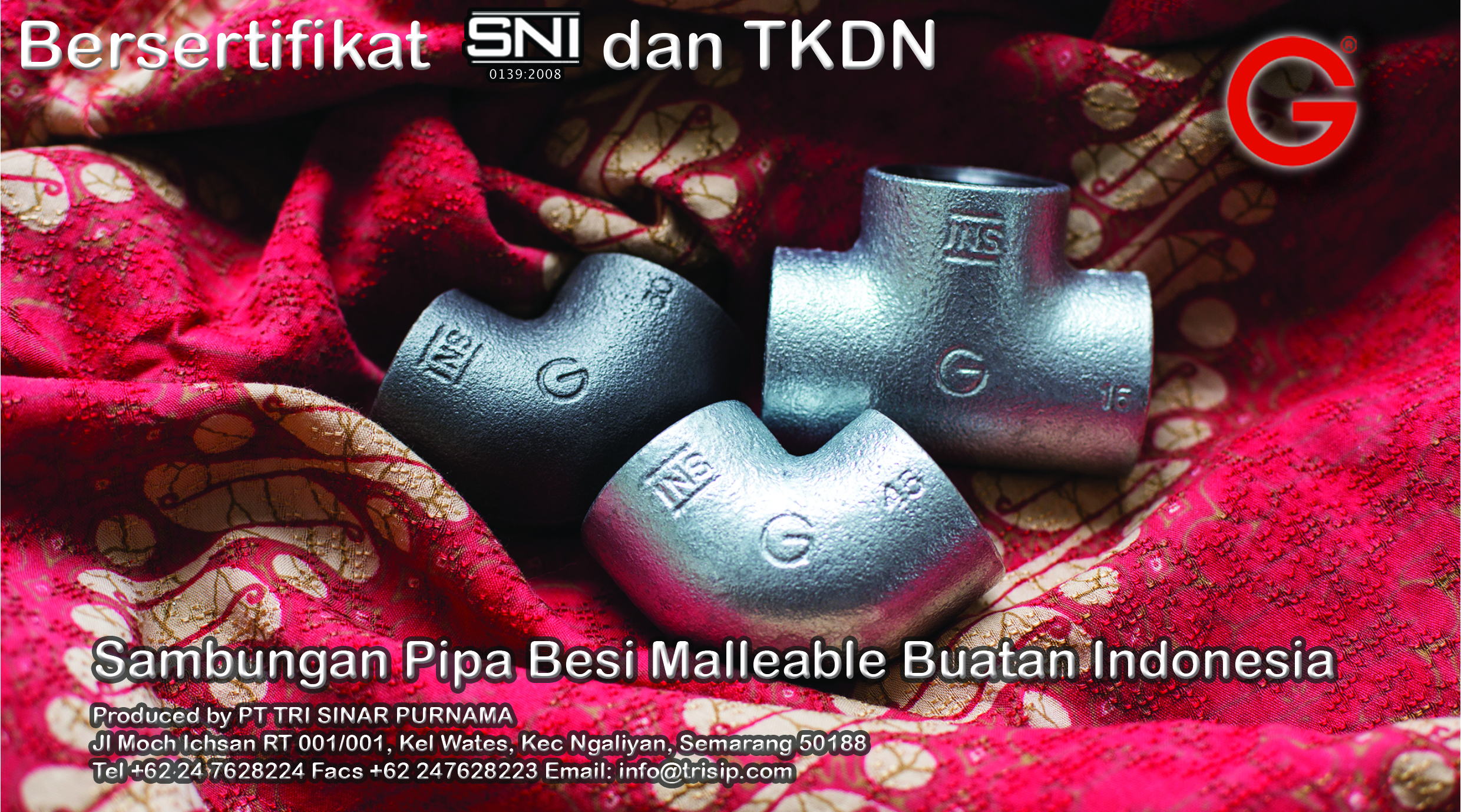 Malleable Iron Pipe Fittings Made in Indonesia
