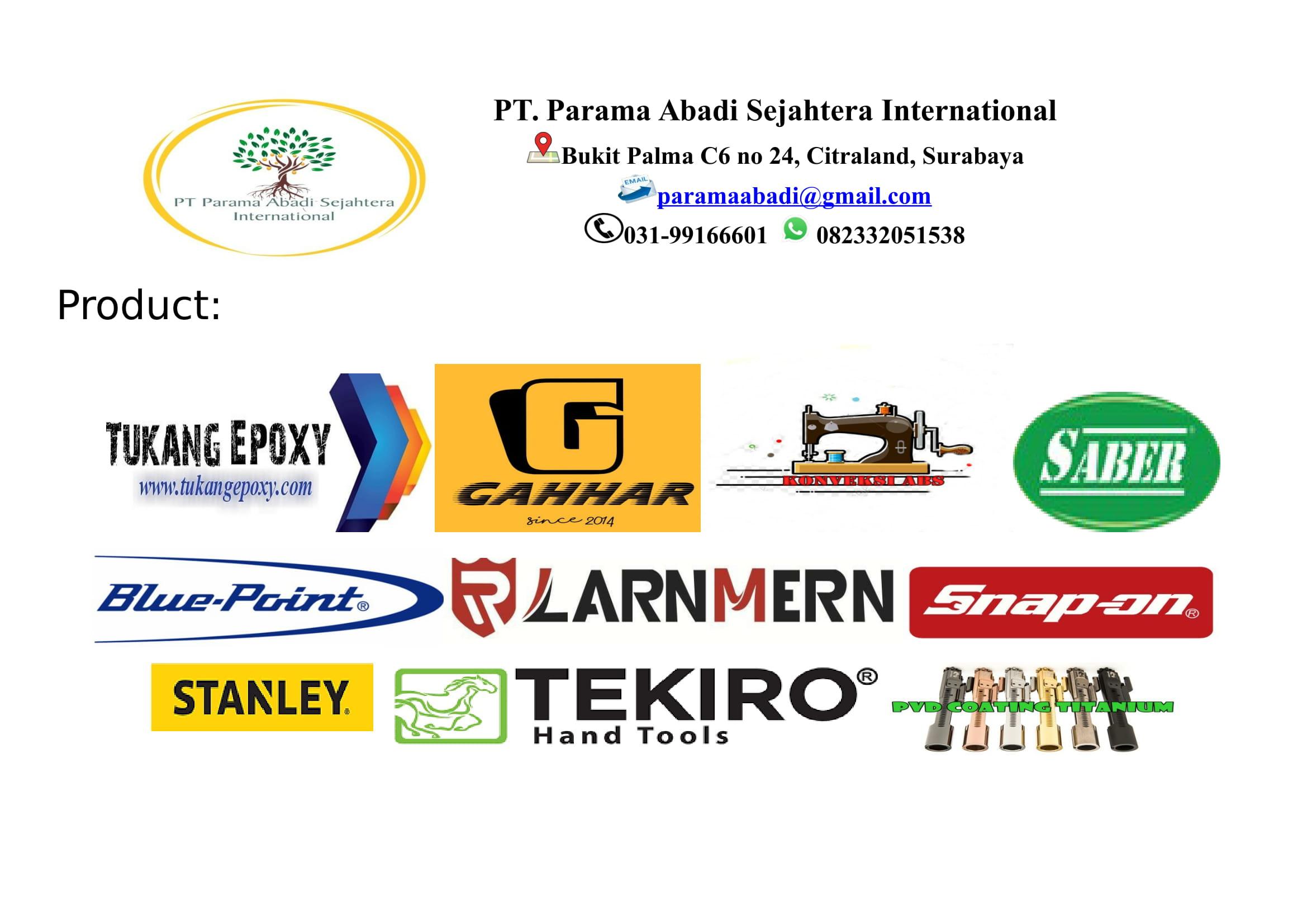 All Product PT. Parama Abadi Sejahtera International