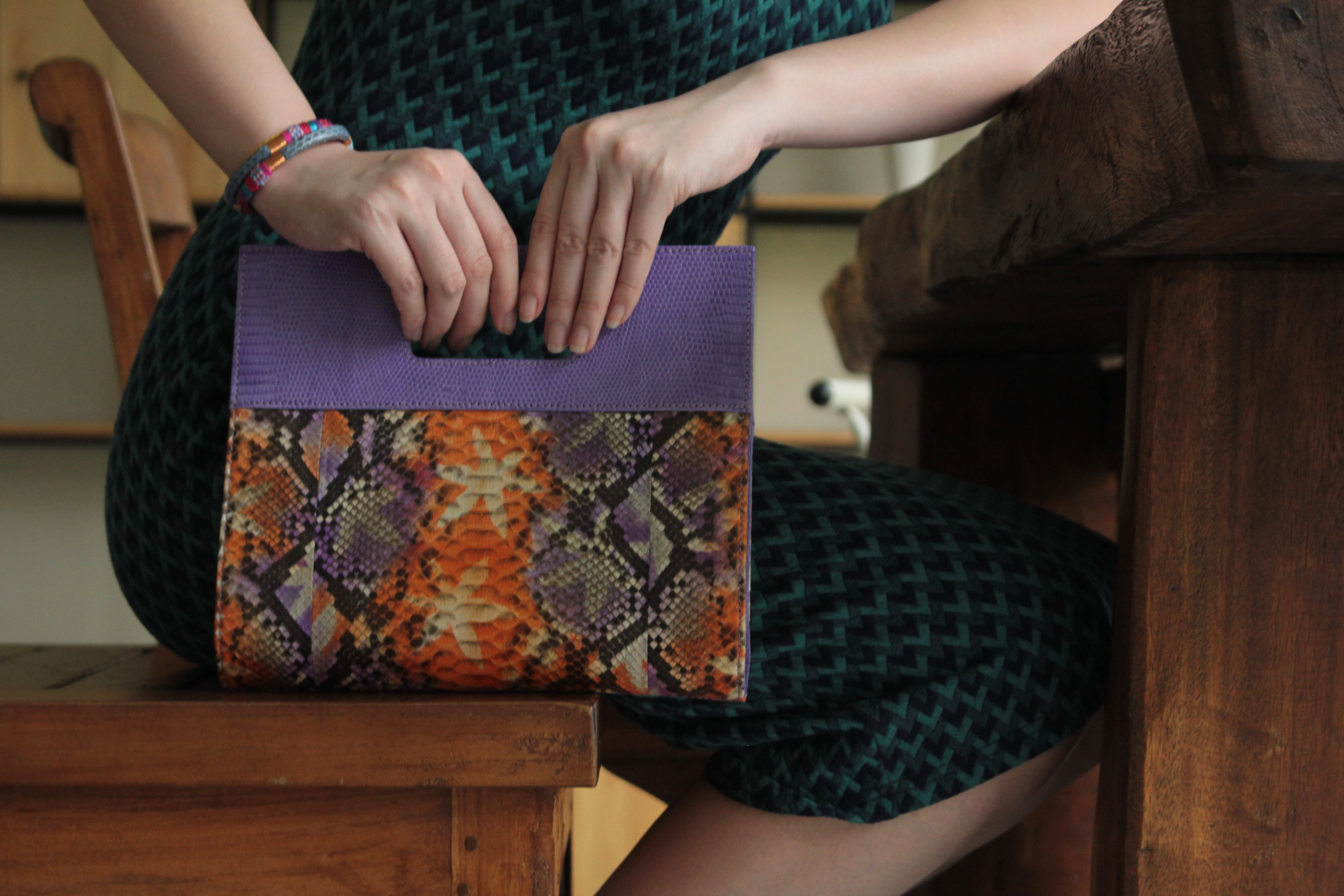 Bellasima Product - Bag from Python and Lizard Skin