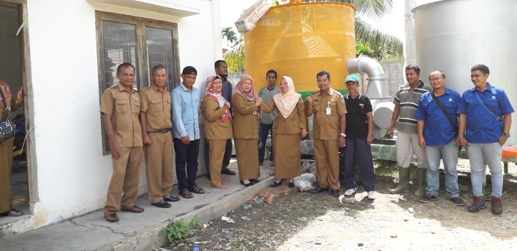 Demo Mobile Grain Dryer di Riau
