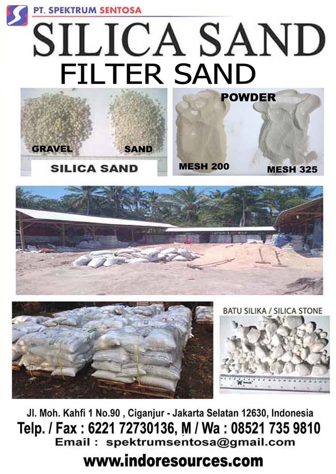 SILICA SAND- Silica GRAVEL - Silica POWDER
