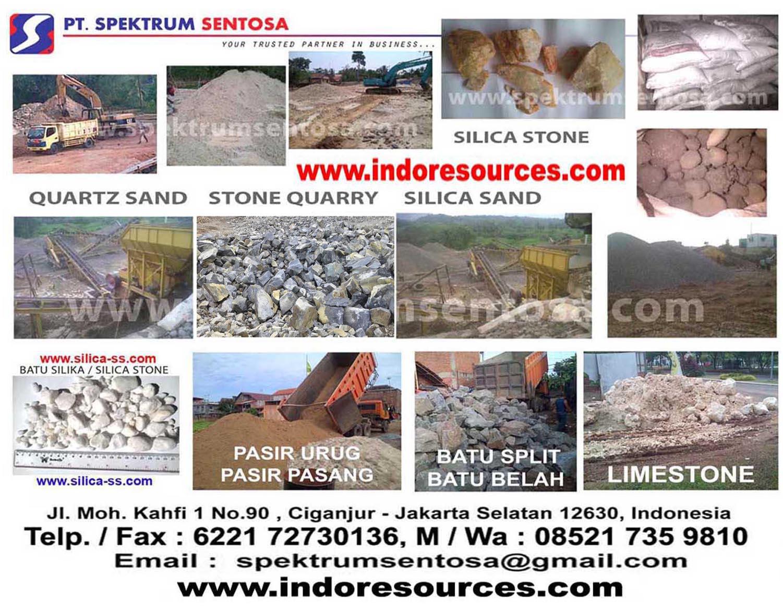 suplier pasir batu makadam batu split limestone