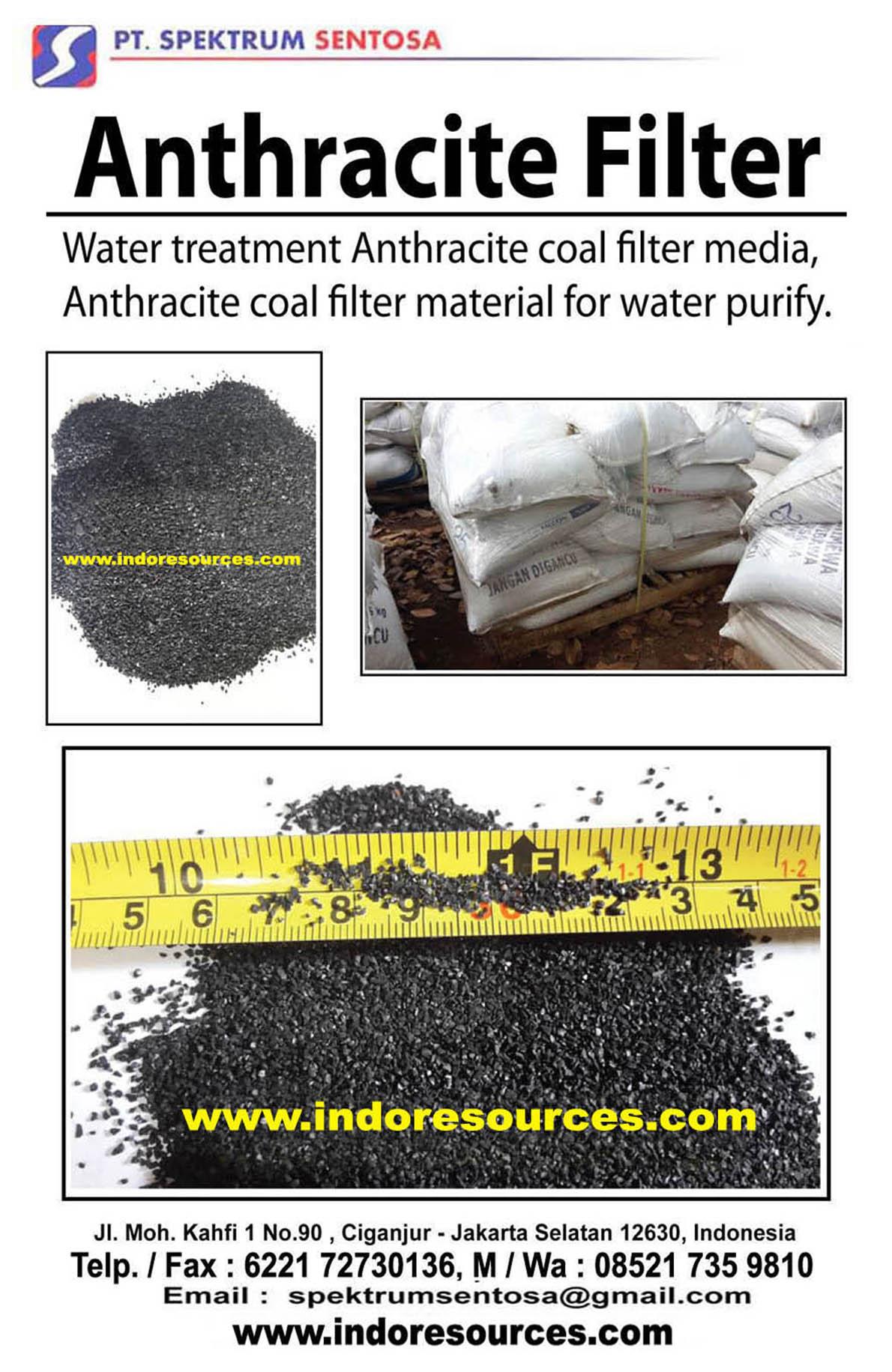 ANTHRACITE - Filter media