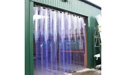 PVC Curtain Blue